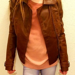 GRG Outerwear Leather Motorcycle Jacket